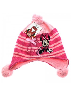 Disney Minnie Mouse Design Pom Pom Hat - Assorted Colours