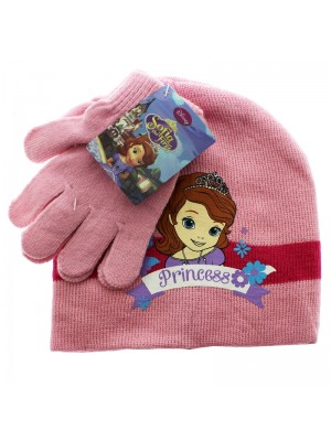 Disney Princess Sofia Hat and Glove Set - Assorted Colours