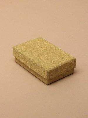 Wholesale Gold Glitter Gift Box - 8x5x2.2cm