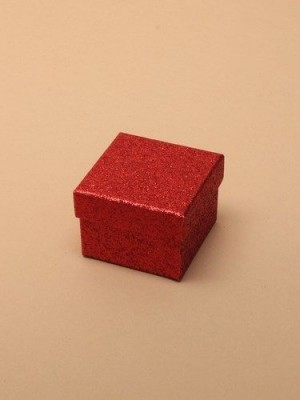 Wholesale Red glitter gift box 5x5x3.5cm