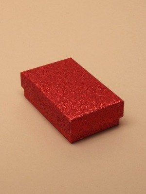 Wholesale Red glitter gift box 8x5x2.5cm
