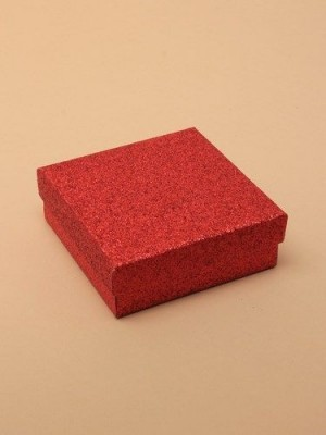 Wholesale Red glitter gift box 9x9x3cm