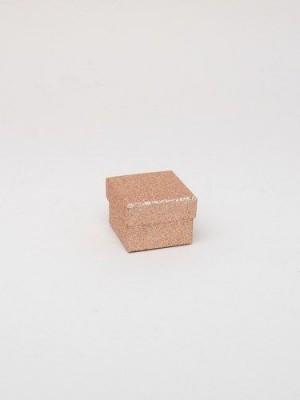 Rose gold glitter gift box 5x5x3.5cm