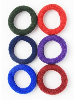 Molly & Rose Large jersey knit donut elastic in School colours-1.5cm x 5cm