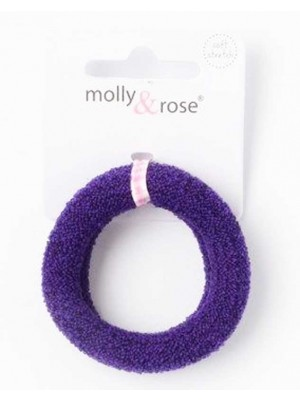 Wholesale Molly & Rose Large jersey knit donut elastic in School colours-1.5cm x 5cm