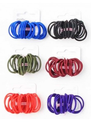 Wholesale Molly & Rose School colour small size snag free elastics-2cm