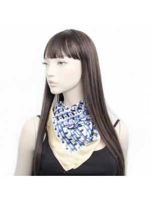 Ladies Geometric Printed Vegan Silk Scarves - Assorted Colours