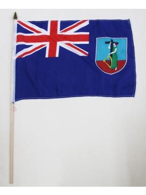 Montserrat Hand Flag (46cm by 30cm)
