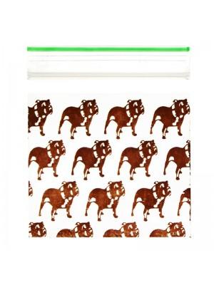 Wholesale Zipper Grip Seal Printed Baggies - Top Dog (40x40mm)