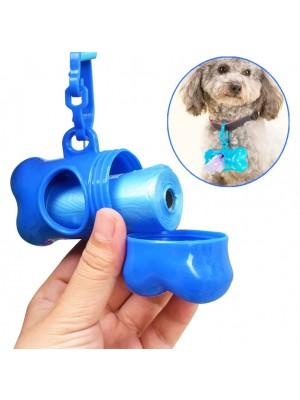 Doggy Waste Pick Up Dispenser With 30 Bags - Assorted Colours