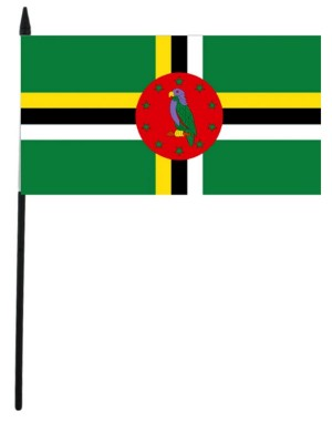"Dominica  Hand Flag 12"" x 18"""