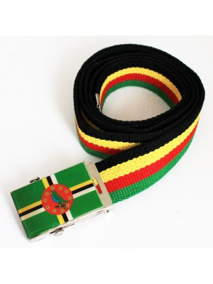 Men's Canvas Belt - Dominica Flag