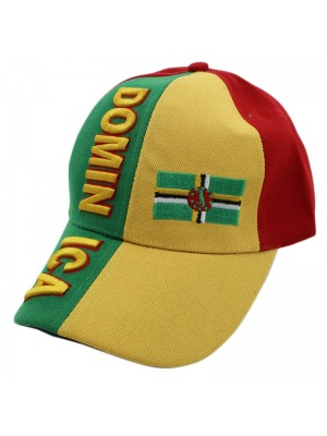 Dominica Colours and Flag Baseball Cap