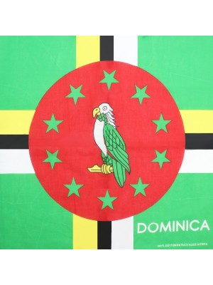 Dominica Flag Print Bandanas (With Writing)