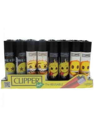 Clipper Reusable Lighter - Emoji (Assorted Designs)
