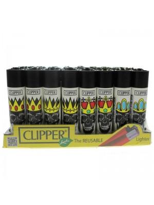 Clipper Reusable Lighter - Skull Kings (Assorted Designs)