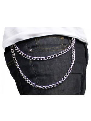 Double Jean Metal Chain Heavyweight Silver