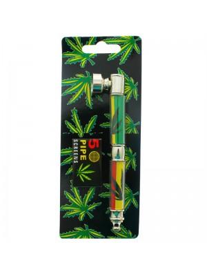 Double Smoking Pipes Rasta Theme Assorted 13cm