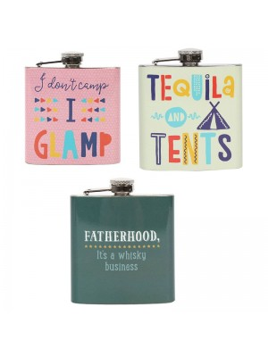 6oz Hip Flask - Assorted Designs