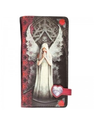 'Only Love Remains' 3D Effect Embossed PU Leather Purse - 18.5cm