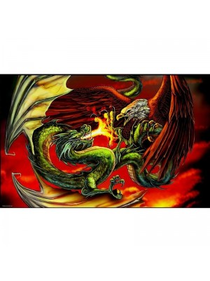 Dragon Vs Eagle Flag - 5ft x 3ft