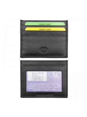 Wholesale Men's Leather Card Holder - Black