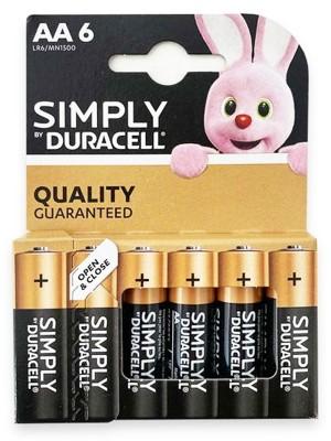 Duracell Alkaline Batteries - AA 6