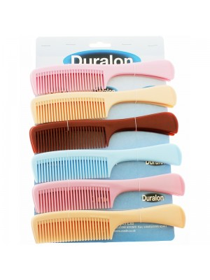 Duralon Long Handled Comb-Assorted Colours