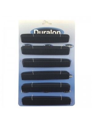 Duralon Pocket Combs -  Black (15cm)