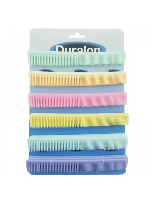 Duralon Pocket Combs -  Assorted Colours (18cm)