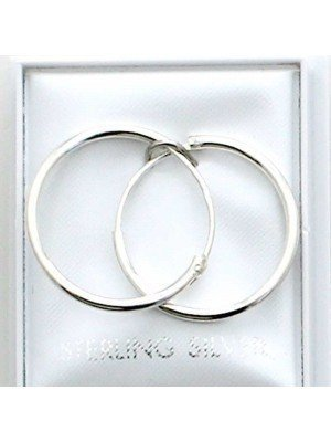 Wholesale Round Sterling Silver Sleepers-15mm
