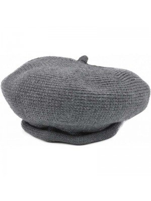 Wholesale Ladies Wool Beret Hat - Charcoal Grey