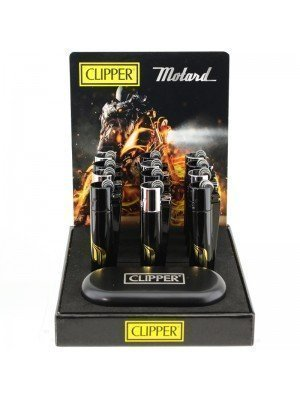 Wholesale Clipper Flint Reusable Lighter With Gift Case - Motards