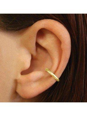 Wholesale Sterling Silver Gold Plain Ear Cuff - 10mm