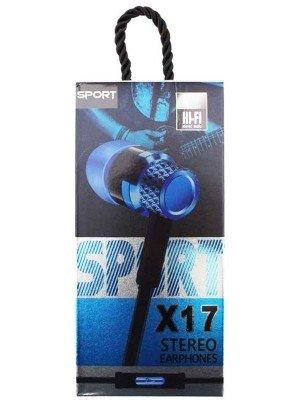 Wholesale Sport Lossless Hi Fi Audio Stereo Earphones X17 - Assorted Colours