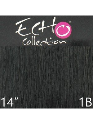 Echo 14'' Long Clip-in Human Hair Extensions - Colour No. 1B