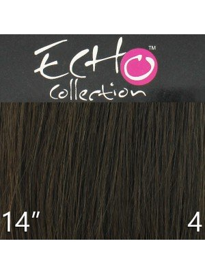 Echo 14'' Long Clip-in Human Hair Extensions - Colour No. 4