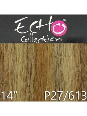 Echo 14'' Long Clip-in Human Hair Extensions - Colour No. P27/613