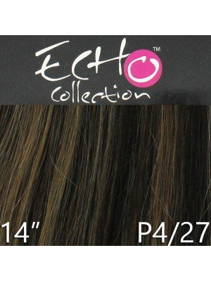 "Echo 18"" Long Clip-in Human Hair Extensions - Colour No. P4/27"