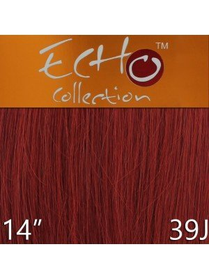 Echo 14'' Long Human Hair Weave Extensions - Colour No. 39J