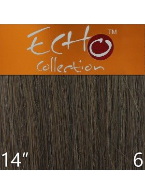 Echo 14'' Long Human Hair Weave Extensions - Colour No. 6