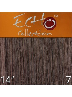 Echo 14'' Long Human Hair Weave Extensions - Colour No. 7