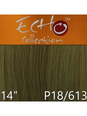 Echo 14'' Long Human Hair Weave Extensions - Colour No. P18/613