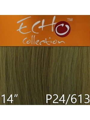 Echo 14'' Long Human Hair Weave Extensions - Colour No. P24/613