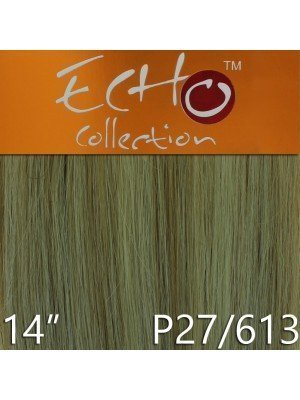 Echo 14'' Long Human Hair Weave Extensions - Colour No. P27/613