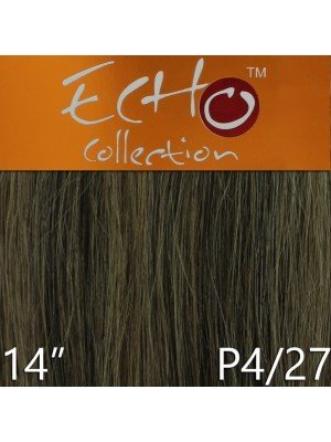 Echo 14'' Long Human Hair Weave Extensions - Colour No. P4/27
