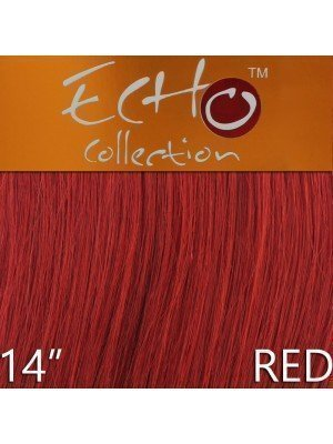 Echo 14'' Long Human Hair Weave Extensions - Colour No. Red