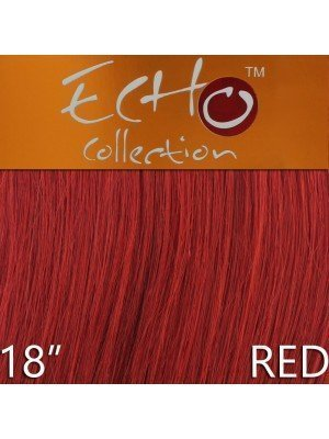 Echo 18'' Long Human Hair Weave Extensions - Colour No. Red