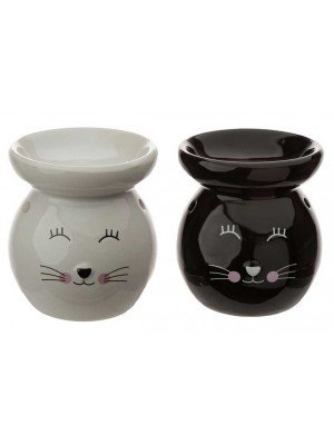Wholesale Eden Ceramic Cat Face Oil Burner - Assorted Colours