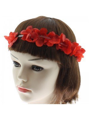 Elastic Headband with Flowers - Assorted Colours